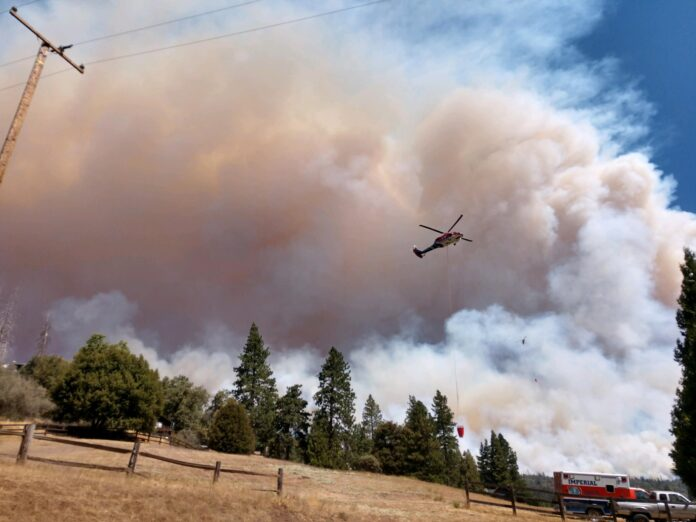 Photo taken from the fire station in Camp Nelson